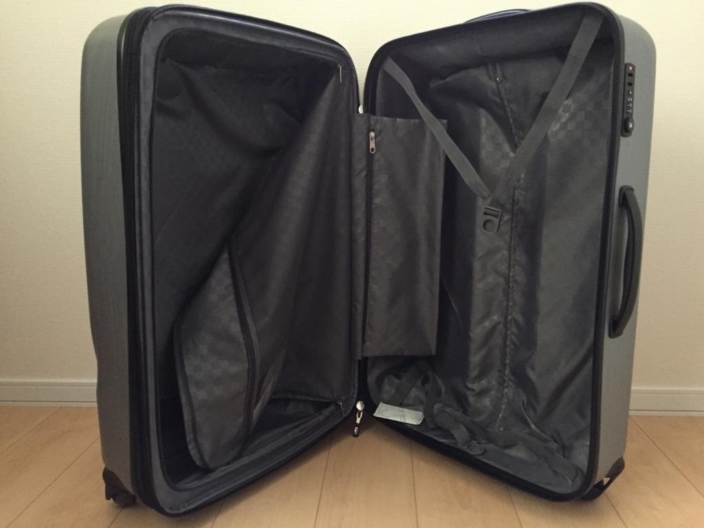 コストコのサムソナイトのスーツケース98L中身