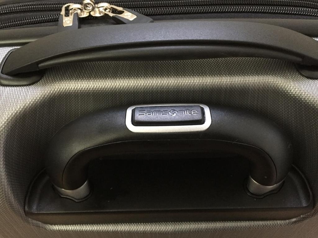 コストコのサムソナイトのスーツケースの取っ手